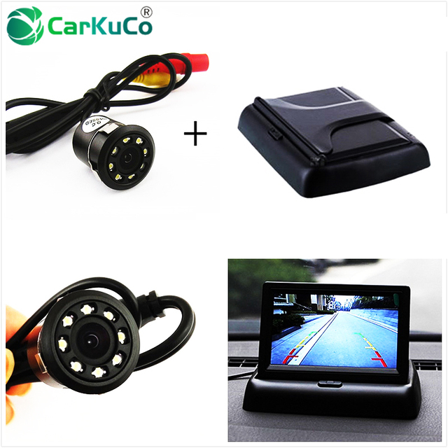 "4.3"" TFT LCD Color Auto Rearview Display Monitor with Waterproof Night Vision Car Reversing Backup Rear View Camera Dropshipping"