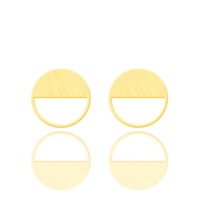 Boucles doreilles géométriques Pour Femmes, couleur or, demi-cercle, Boucles doreilles, en acier inoxydable, Pour enfants
