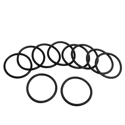 10 Pcs 31.5mm x 2.65mm Black Silicone O Rings Oil Seals Gaskets