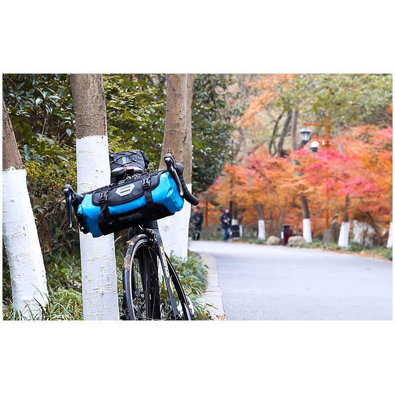 ROSWHEEL Tam Su Geçirmez 7L Bisiklet Ön Çanta MTB Bisiklet Sepetleri Ambalaj Pannier Bisiklet Aksesuarları Gidon Çantası