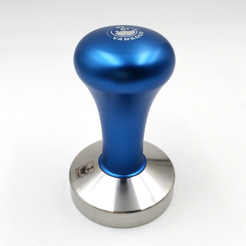 Espresso Kaffee Tamper Blau Kaffee Tamper Maschine Presse Flachen Basis Barista Zubehör 51mm 57,5mm 58mm