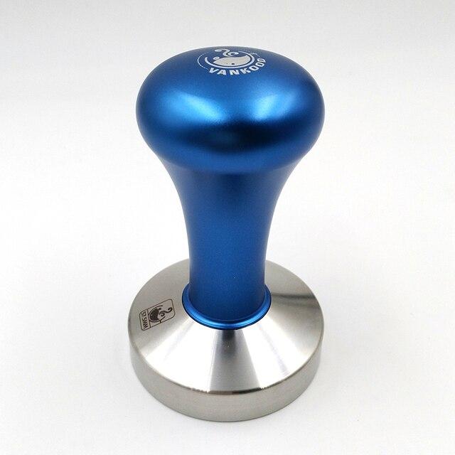 Espresso Kahve Sabotaj Mavi Kahve Sabotaj Makinesi Basın Düz Taban Barista Aksesuarları 51mm 57.5mm 58mm