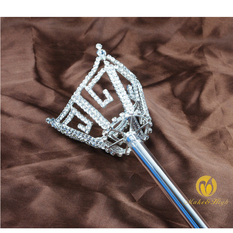 King Queen Scepters Wand Purple Crystal Sceptres Pageant Party Costumes Props