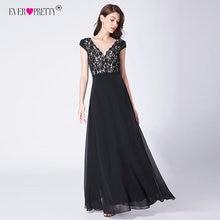 Ever Pretty Robe De Soiree 2018 Long Lace Evening Dresses Elegant A Line  V-Neck 191564a0421b