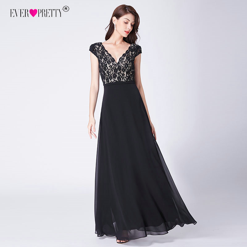 4a1e7d6e ᐃ Popular black long lace evening gowns and get free shipping ...
