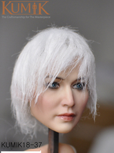 1/6 Figure Model PVC Silver hair Lifelike Girl Kumik KM18-37 Female Past Head Sculpt 12 Action Accessory