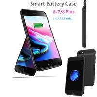 2018 novo 2400 mah carregador de banco de energia externa adaptador bateria caso para iphone 6 7 8 plus|Estojos p/ carregador de bateria|Telefonia e Comunicação -