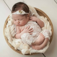 Baby Lace Romper Playsuit Newborn Photography Props Accessories Infant Outfit(China)
