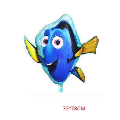 Large Dolly Fish Shape Foil Balloons Baby Birthday Gifts Party Aquarium Decoration Supplies Helium Balloon Kids Showers Toys