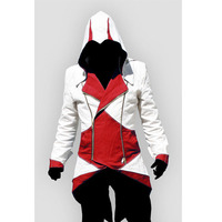 Assassins Creed 3 III Conner Kenway Hoodie Jacket Aassassins Creed Connor Traje Cosplay Novidade Homens Jaqueta de Moletom Com Capuz