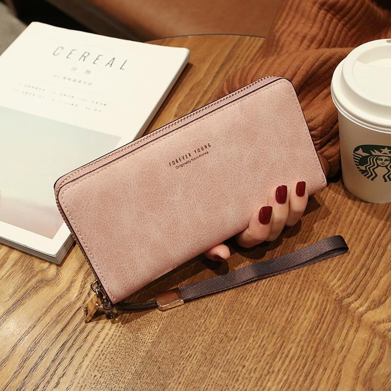Женский кошелек, сумка для мобильного телефона, фирменный дизайн, Женский кошелек из искусственной кожи, длинные женские кошельки и кошельки, женский тонкий держатель для карт, кошелек