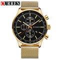 Nueva curren relojes de marca de lujo de los hombres reloj de cuarzo de moda de acero completo reloj ocasional masculina se divierte el reloj fecha reloj relojes 8227