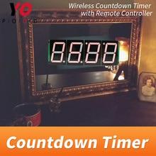 ワイヤレスカウントダウンタイマー部屋脱出ゲームは、 4 つのデジタルディスプレイユーザーがセット時間 yopood 実生活 takagism ゲームサプライヤー