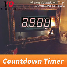 Wireless Countdown timer Room escape game props four digital display users can set time YOPOOD real life Takagism game supplier