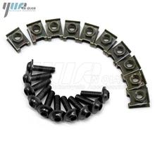 10 pieces 6mm motorcycle fairing body screws for yamaha ybr 125 xjr fz8 virago 250 kawasaki versys 650 klx250 ninja 250 z1000sx