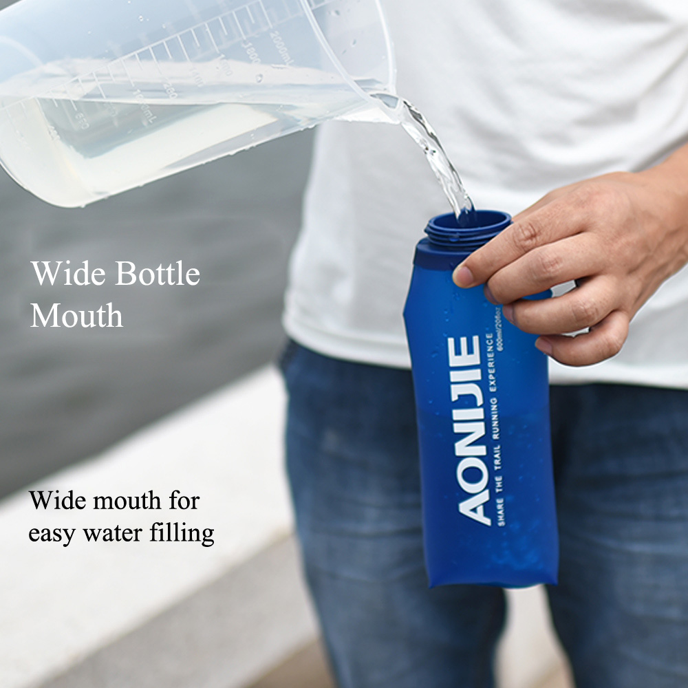 Dark Blue Foldable Tpu Outdoor Soft Flask Water Bag Sport Camping Aonijie Sd09 250ml Hike Running Hydration Bottle Mouth Kettle 350ml 600ml In Bags From Sports