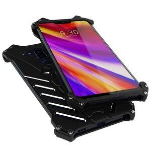 Image 3 - Capa protetora para lg v30 plus g8, case protetor, armadura resistente, de metal, à prova de choque, para telefones, batman, doom, R JUST capa para g7 g6 g8
