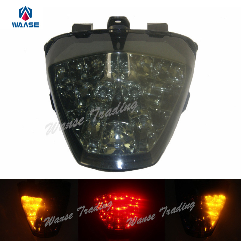 waase Tail Brake Turn Signals Integrated Led Light Lamp Smoke For 2011 2012 2013 HONDA Fireblade CBR 250R CBR250R ABS Repsol aftermarket motorcycle parts led tail brake light turn signals for 2008 2012 hayabusa gsx1300r smoke