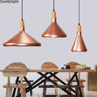 Vintage Industrial Lighting Copper Black Color Lamp Holder Pendant Light American Aisle Lights Retro Lamp Coffee