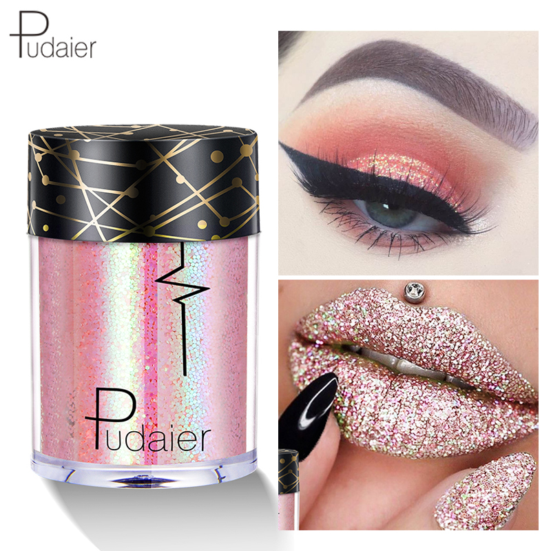 Body Glitter Festival Makeup Laser Holographic Tattoo Shimmer Face Lip Eyeshadow Pigmented -5231