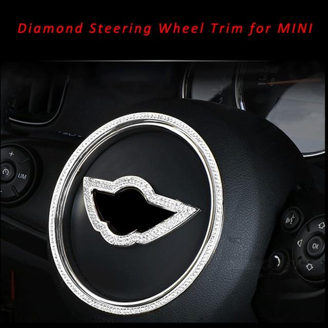 Car Styling Diamond Steering Wheel Wing Emblem Badge Decal Trim for MINI Cooper One Countryman R54 F55 F56 F60 R55 R56 R60 R61