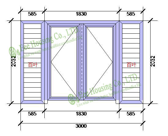 Aluminum Glass Louvered Windows With Insect Screens