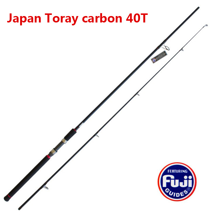 Usa 3m carbon lure rod mh spinning handle full fuji parts for Fishing rods made in usa