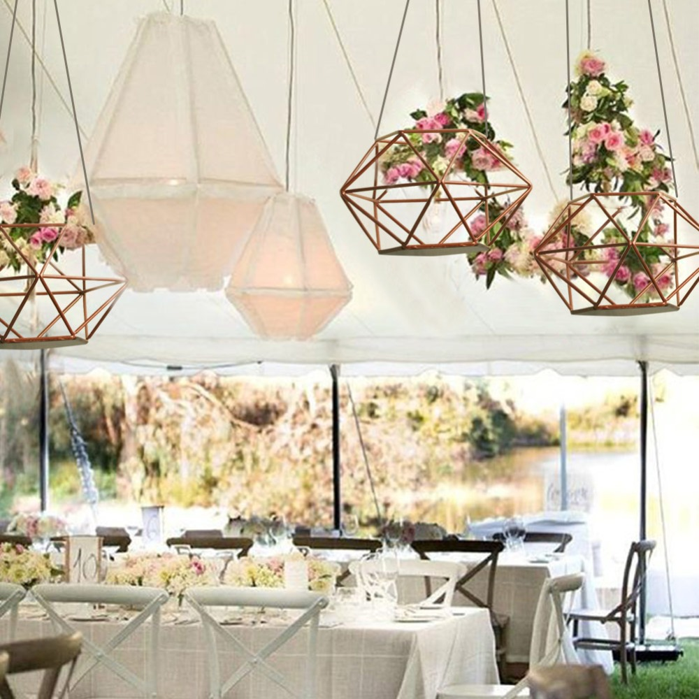 OurWarm Wedding DIY Hanging Flower Basket Wedding Decoration Table ...