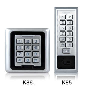 K81~K88 IP 65 Waterproof Metal Access Control System RFID 125KHz Card With 8000 Users Card For Door Lock Security Entry System