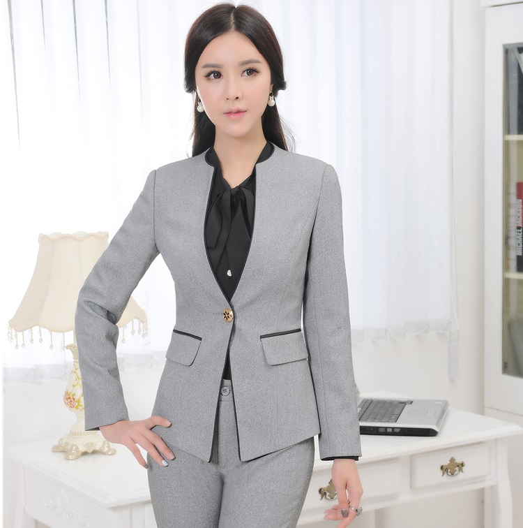 Popular Grey Womens Blazer-Buy Cheap Grey Womens Blazer lots from ...