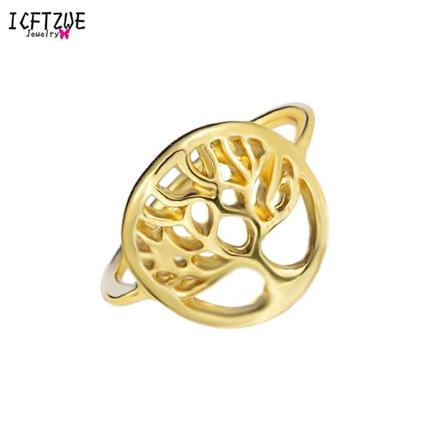 Dianshangkaituozhe Древо жизни палец Promise Ring милые уникальный cool женщина Для мужчин Jewelry цвета: золотистый, серебристый розовое золото невесты подаро...