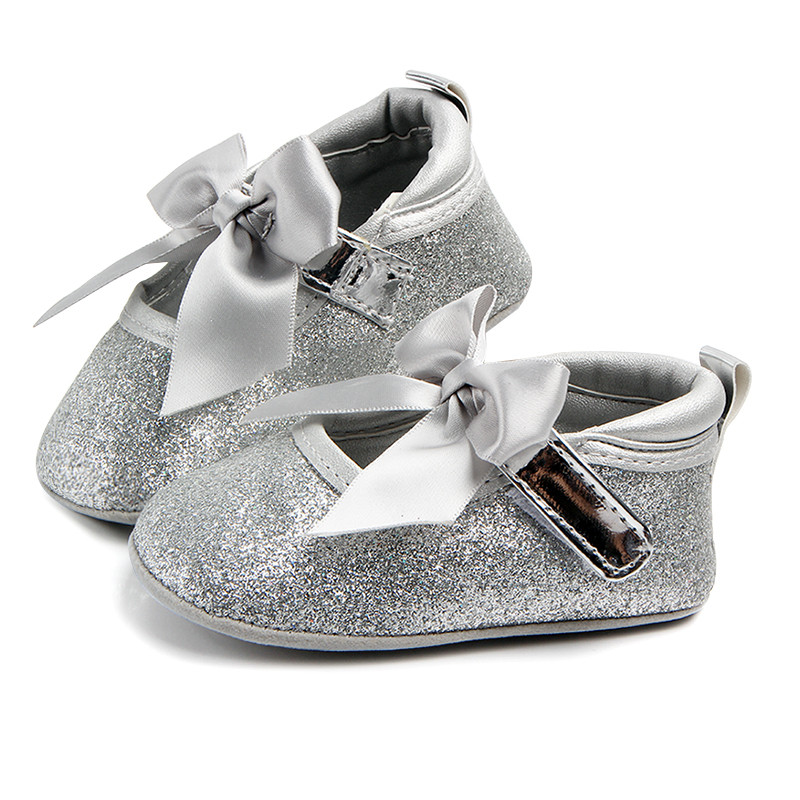 Sweet Sequins Newborn Baby Girls Princess Mary Jane Big Bow Soft Soled Shoes Crib Babe Ballet Dress Prewalkers Shoes ...