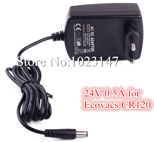 24V 0.5A AC/DC Charger Power Adapter for Ecovacs Robotic Cleaner Deebot X500,CR120 Vacuum Cleaner Parts Free Shipping to RU !