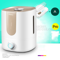 350ml/h 5lL Ultrasonic Air Diffuser Air Humidifier Aroma Oil Diffuser Ionizer Generator Aromatherapy Ag + Purifier Mist Maker