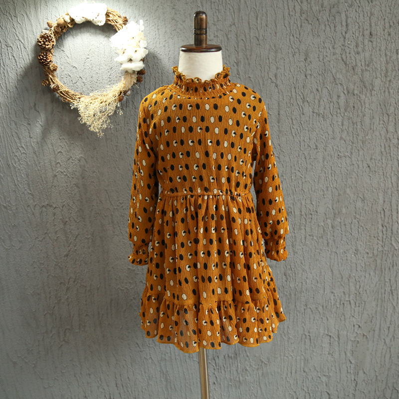Wholesae Autumn Winter  3-10 Years girls dress long sleeve children clothing girls clothes high quality brand princess dresses