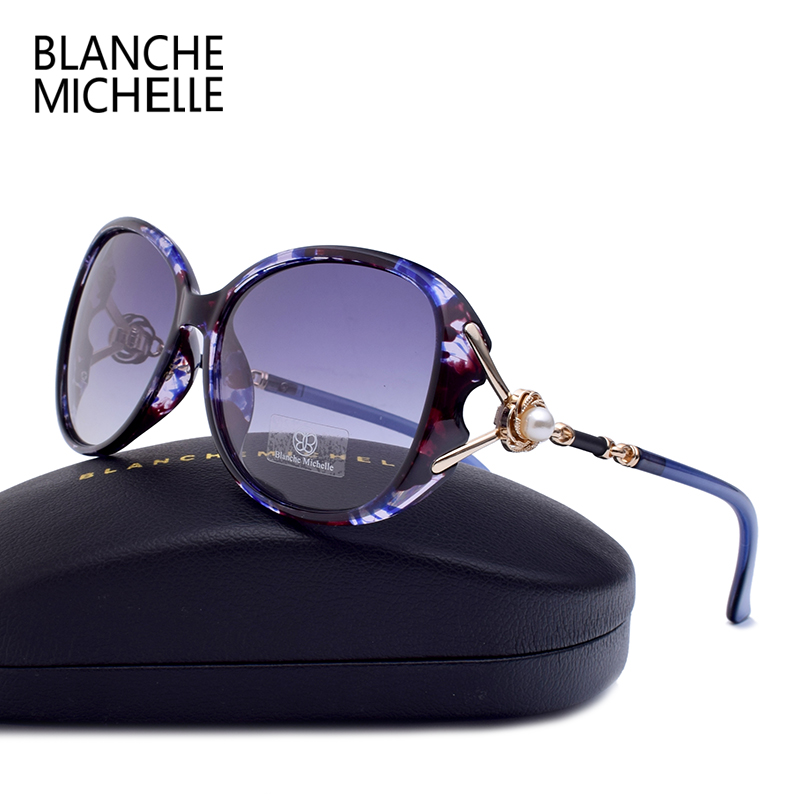 Blanche Michelle 2019 High Quality Polarized Sunglasses Women Brand Designer UV400 Gradient Sun Glasses Pearl oculos With Box|oculos brand|oculos designerpolarized sunglasses women - AliExpress