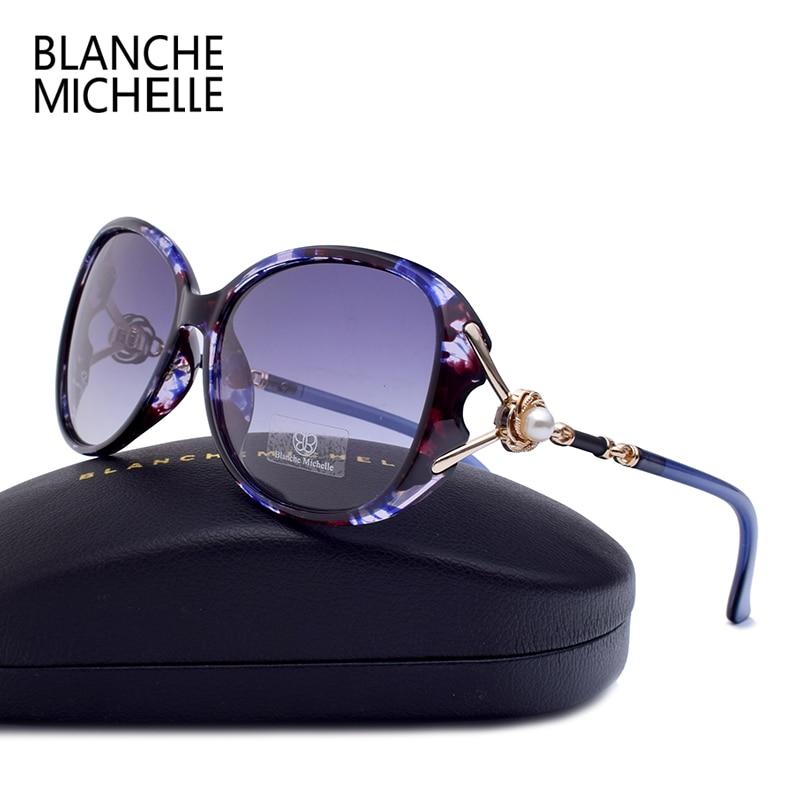 Blanche Michelle 2021 Hohe Qualität Polarisierte Sonnenbrille Frauen Marke Designer UV400 Gradienten Sonnenbrille Perle oculos Mit Box Polarized Sunglasses Women