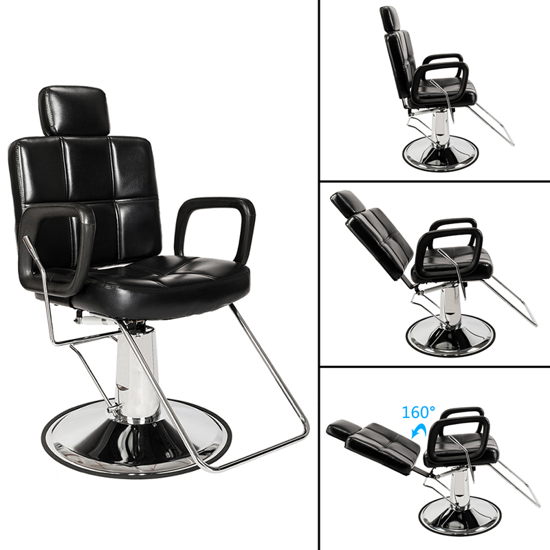 Fashion Style New Hairdressing Chair Rotatable Barber Chair Lifting Handle Chair Hair Salon Special Haircut Chair New Varieties Are Introduced One After Another Commercial Furniture