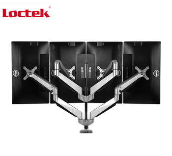 "Loctek D7Q Quad-arm Desk Monitor Mount 10""-24"" Monitor Holder Mount Gas Spring Arm Bracket with Mic / Audio/ USB Ports D7Q"