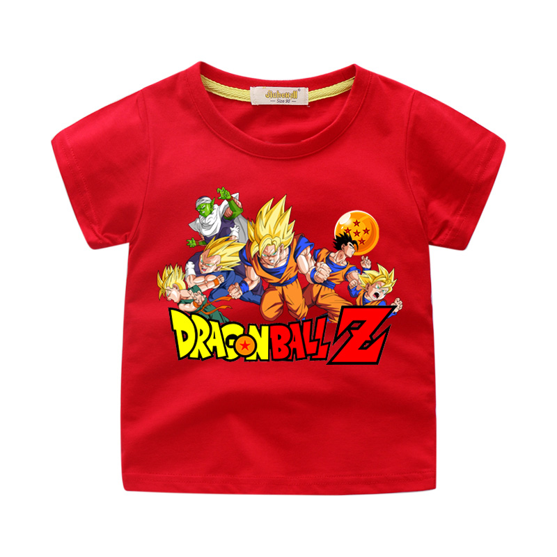 Children Dragon Ball Cartoon T-shirts Clothes Boy Girls Summer Short Sleeve Clothes Tee Tops Toddler Kids 3D Print Tshirt WJ215(China)