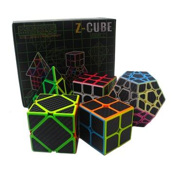 5pcs/set Z cube Set Magic cube Sticker Speed 3x3x3 4x4x4 Magico Cube Magico Educational Brain puzzle Toys For Children Adult 1