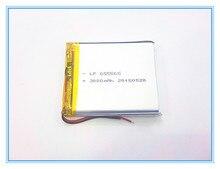 Envío libre 3.7 V, 3000 mAH, [655565] PLIB; polímero de iones de litio/batería Li-ion para dvr, GPS, mp3, mp4, teléfono móvil, altavoz