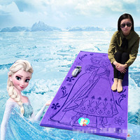 Disney Elsa Princess Queen Frozen Gauze newborn and Baby Bath Towel 100% cotton Child beach towel Girl's gift gifts 160x85cm
