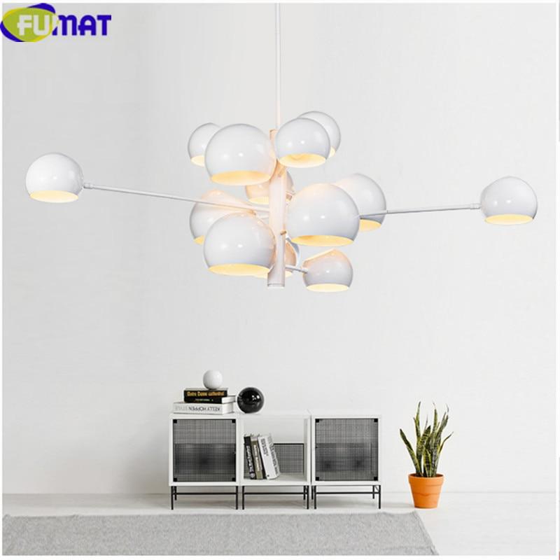 FUMAT métal boule ronde lustres lampe salle à manger salon lumière moderne Art déco lampe chambre suspendus luminaires