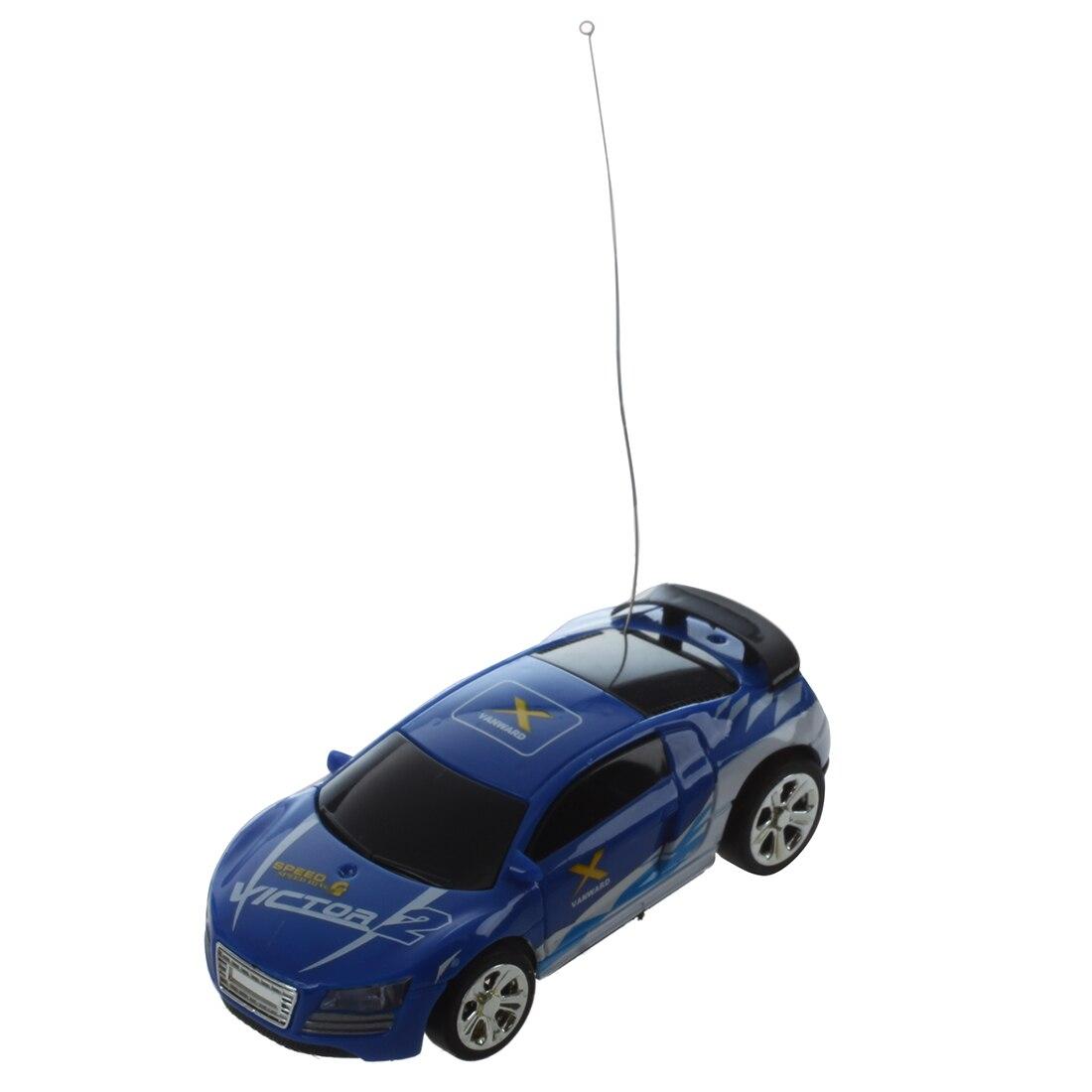 MINI MICRO RC CAR Radio Controlled 1:58 CAN BOX SERIAL SHEN QI WEI white blue