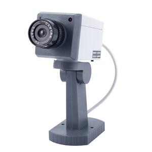 Image 1 - Dummy אבטחת LED מסתובב מצלמה תנועה הופעל אור סוללה כוח בית מזויף