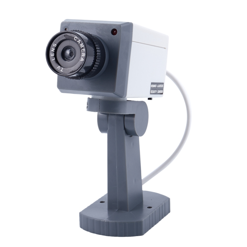 Dummy SECURITY LED Swivel CAMERA Motion Activated Light  Battery Power Home Fake-in Camcorder Lenses from Consumer Electronics