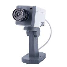 Dummy SECURITY LED obrotowa kamera z czujnikiem ruchu światła bateria zasilanie solarne do użytku domowego fałszywe