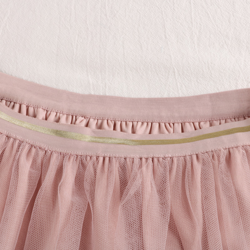 2019 New High Waist Slim Two Pieces Stars Sequins Tulle Skirt A-line Medium Long Black Pink Gray Pleated Midi Skirt