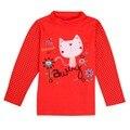 2016 Roupa Do Bebê T-shirt Da Menina do Gato Dos Desenhos Animados Manga Comprida T Camisa encabeça Tee Crianças Roupas Gato Bebê Meninos Camisetas Meninas T Camisa